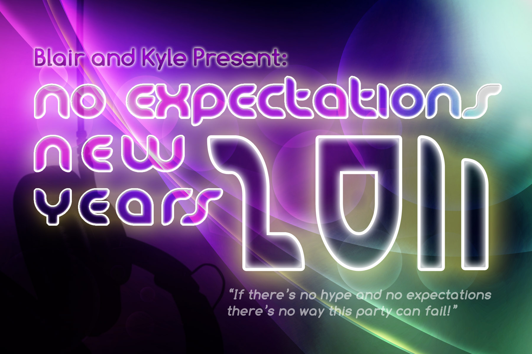 NYE handout card (front)